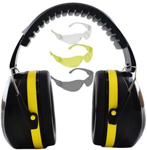 Shooting Ear Protection Safety Muffs with Noise Cancelling Construction