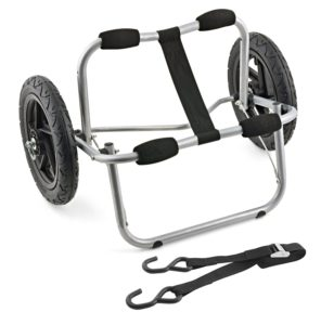 Shoreline Marine Propel Aluminum Canoe & Kayak Cart with Tie Downs