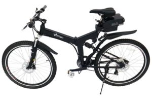 Silver or Black Voltage 26 Inch 250W eBike Electric Folding Bicycle, 36V Lithium Bike