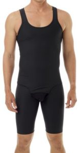 Underworks Mens Compression Bodysuit Girdle - No Rear Zipper