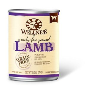 Wellness 95 Can Dog Food Topper 12pk Lamb