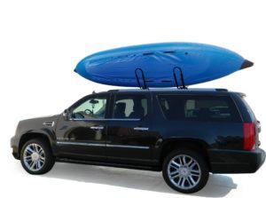 XSPORTS UNIVERSAL 1 SET J BAR KAYAK INFLATABLE BOAT PADDLE SNOW SKI WAKE SURF BOARD CANOE ROOF RACK CARRIER FOR SUV CAR TRUCK CROSS BAR