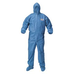 A60 Blood and Chemical Splash Protection Coveralls, Large, Blue, 24Carton