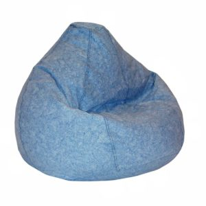 American Furniture Print And Plush Kids Large Bean Bag, Denim