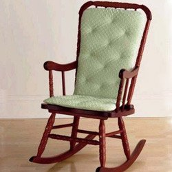 BabyDoll Bedding Heavenly Soft Adult Rocking Chair Cushion, Sage