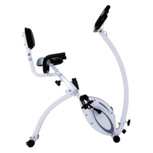 Body Rider 2-in-1 Folding Upright & Recumbent Bike SilverWhite