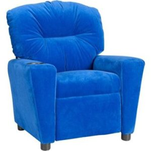 Convenient And Durable Flash Furniture Kidsu0027 Microfiber Recliner With Cup  Holder, Multiple Colors (