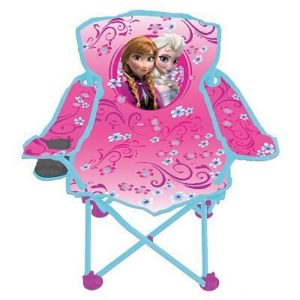 Disney Frozen Fold N Go Kids Chair w Cupholder and Carry Bag