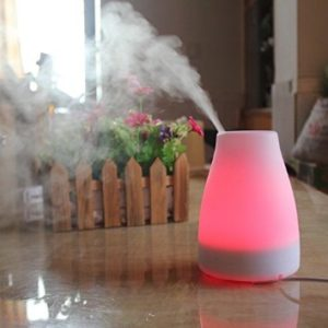 Essential Oil Diffuser by Efbock - Portable Air Humidifier and Cool Mist Aromatherapy Diffuser - Ionizer Air Purifier - Auto Shut-Off Function - 7 Colored LED Lights - 120ml