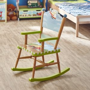 Fantasy Fields   Transportation Thematic Kids Wooden Rocking Chair  Imagination Inspiring Hand Crafted U0026 Hand Painted