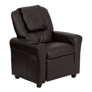 Flash Furniture DG-ULT-KID-BRN-GG Contemporary Brown Vinyl Kids Recliner  sc 1 st  Top Portal Review & Top 10 best kidsu0027 recliners in 2016 reviews islam-shia.org