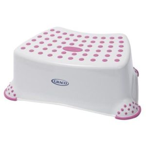Graco Deluxe Step Stool, WhitePink