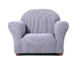 KEET Roundy Kid's Chair Gingham, Navy