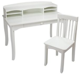 KidKraft Large Avalon Desk - White