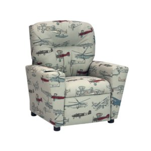 Kidz World Vintage Air Pewter Kid's Recliner