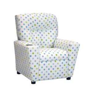 Kidzworld Home Indoor Children Bubble Gum Capri Kid's Recliner