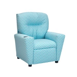 Kidzworld Home Indoor Children Cosmo - Girly Blue Kid's Recliner