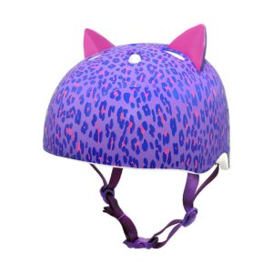 Krash 2015 Girl's Leopard Kitty Youth BikeSkate Helmet