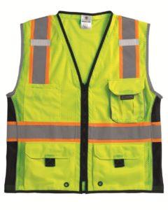 ML Kishigo 1513 Ultra-Cool Polyester Black Series Heavy Duty Vest, 2X-Large, Lime