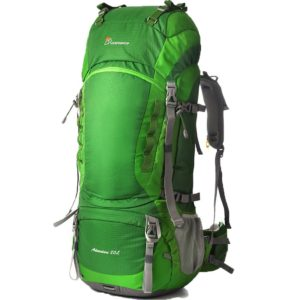 Mountaintop 80L Water-resistant Internal Frame Backpack Hiking Backpacking Packs for Outdoor Hiking Travel Climbing Camping Mountaineering with Rain Cover-5820II