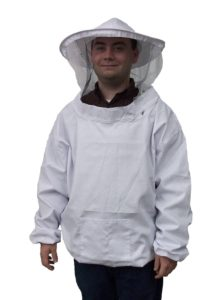 New Professional White XL Extra Large Beekeeping Bee Keeping Suit, Jacket, Pull Over, Smock with a Veil by VIVO (BEE-V105XL)