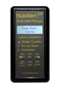 NukAlert-ER Handheld Geiger Counter Radiation Detector Dosimeter Alarm 0.001 mRhr to 600,000 mRhr