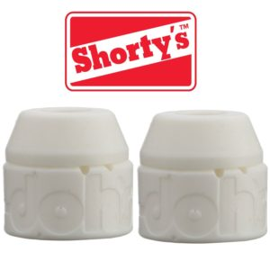 Shorty's White Doh-Doh Bushings 98a Very Hard (2 sets) For Skateboards & Longboards