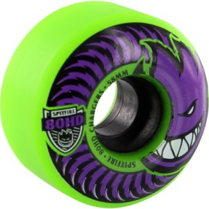 Spitfire Wheels 80HD Charger Classic Green Purple Skateboard Wheels - 58mm 80a (Set of 4)