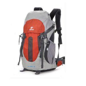 TOFINE Backpacker Biker Backpacks for College Family Travel Bag with Rain Cover Orange 25 Liter