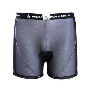WOLFBIKE Men's Gel 3D Padded Bicycle Cycling Underwear Compression Shorts Pants