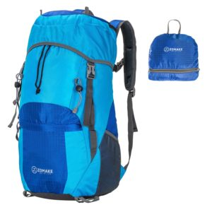 ZOMAKE Large 40L Lightweight Water Resistant Travel Backpackfoldable & Packable Hiking Daypack