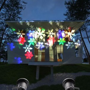christmas snowflakes spotlight projection lamp laser light for holiday party landscape indoor and outdoor - Christmas Laser Projector Lights