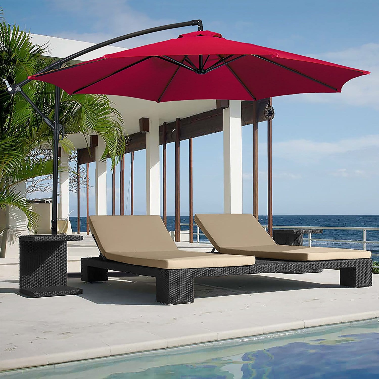 Outdoor Umbrella With Lights Top 10 best cantilever patio umbrellas review buyers guidelines workwithnaturefo