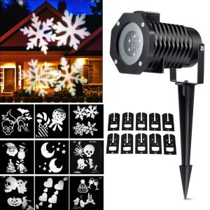 Outdoor Christmas Snowflake Lights