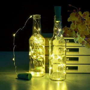 Warm White Wine Bottle Cork Lights By MineTom U2013 Best Wine Bottle Christmas  Lights Inside For Interior Design In 2018
