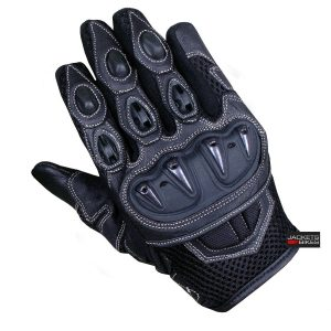 New Men's Summer Motorcycle Mesh and Leather Street Cruiser Biker Gloves S