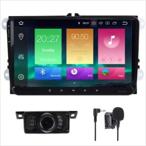 Android 8.0 Car Stereo Double 2 Din 9 Inch Capacitive Touch Screen GPS Navigation System for VW VOLKSVAGEN Golf Passat Tiguan Polo Jetta Skoda Seat Octa-core