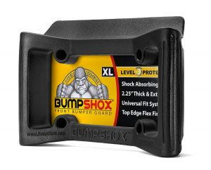 BumpShox XL - Front Car Bumper Protection, Ultimate Front Bumper Guard. Front Bumper Protection License Plate Frame. Tougher Than Steel