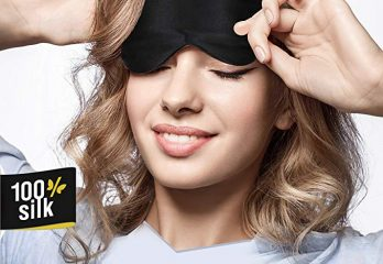 Jersey Slumber 100% Silk Sleep Mask For A Full Night's Sleep Comfortable & Super Soft Eye Mask With Adjustable Strap