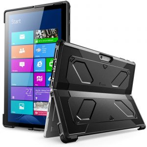 Surface Pro 6 Case, Surface Pro Case 2017, [Heavy Duty] i-Blason Armorbox Dual Layer Hybrid