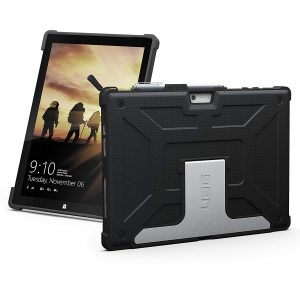 URBAN ARMOR GEAR UAG Microsoft Surface Pro 6Surface Pro 5th GenSurface Pro 4 Feather-Light Rugged [Black] Aluminum Stand Military Drop Tested Case