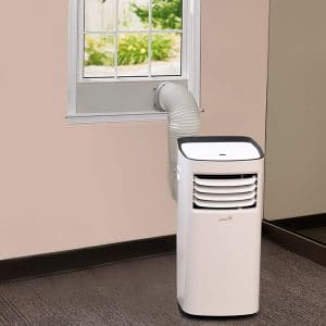 Ivation 10,000 BTU Portable Air Conditioner – Compact Single-Hose AC Unit & Dehumidifier wRemote Control, Digital LED Display & Multi-Mode Function