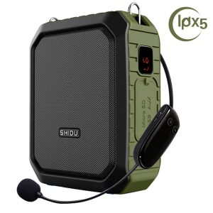 Wireless Voice Amplifier with Headset Mic 18W Voice Loudspeaker Portable Bluetooth Speaker Waterproof IPX5 Power Bank for Outdoor Activities