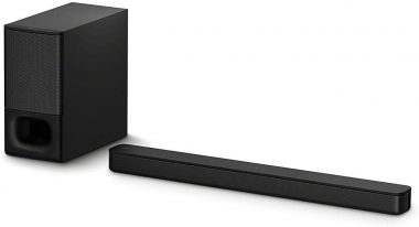Sony HT-S350 Soundbar with Wireless Subwoofer S350 2.1ch Sound Bar and Powerful Subwoofer - Home Theater Surround Sound Speaker System for TV - Bluetooth and HDMI Arc Compatible Bar