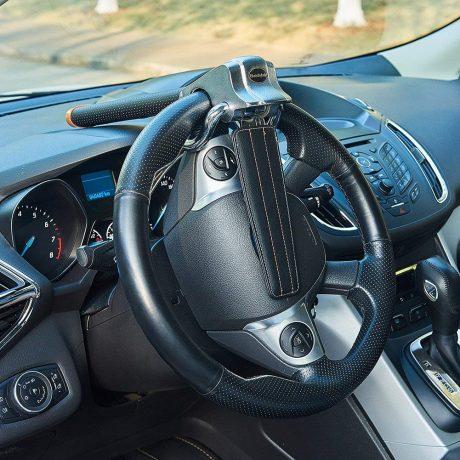 Blueshyhall Car Steering Wheel Lock,Anti-Theft Locking Devices for Auto Car Vehicle Truck SUV