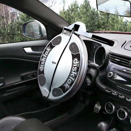 Disklok Security Device - Steering Wheel Lock - Full Cover - Silver - Thatcham Approved