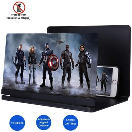 3D Smart Phone Screen Enlarger HD Movie Amplifier Foldable Cell Phone Holder Stand for iPhone Samsung