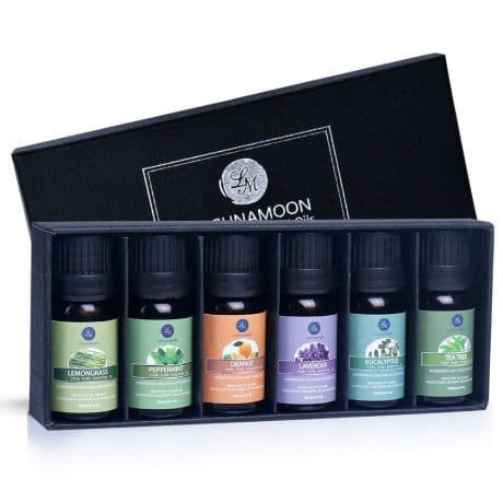 Lagunamoon Essential Oils Top 6 Gift Set Pure Essential Oils for Diffuser