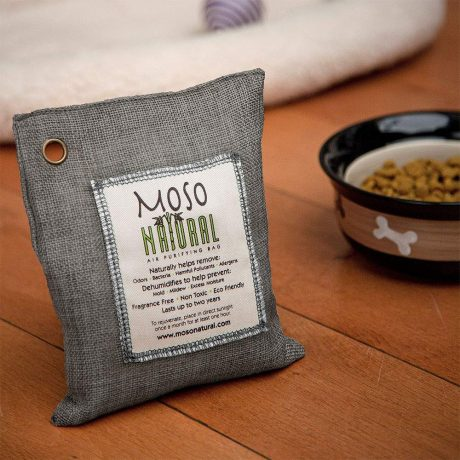 MOSO NATURAL Air Purifying Bag. Bamboo Charcoal Air Freshener, Deodorizer, Odor Eliminator, Odor Absorber for Cars and Closets