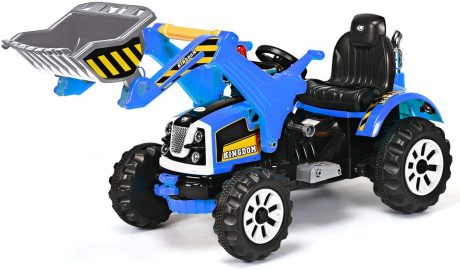 Costzon 12V Battery Powered Kids Ride On Excavator, Electric Truck with HighLow Speed, Moving ForwardBackward